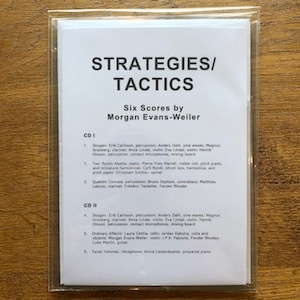 Morgan Evans-Weiler 'Strategies/Tactics' on Suppendaneum Label