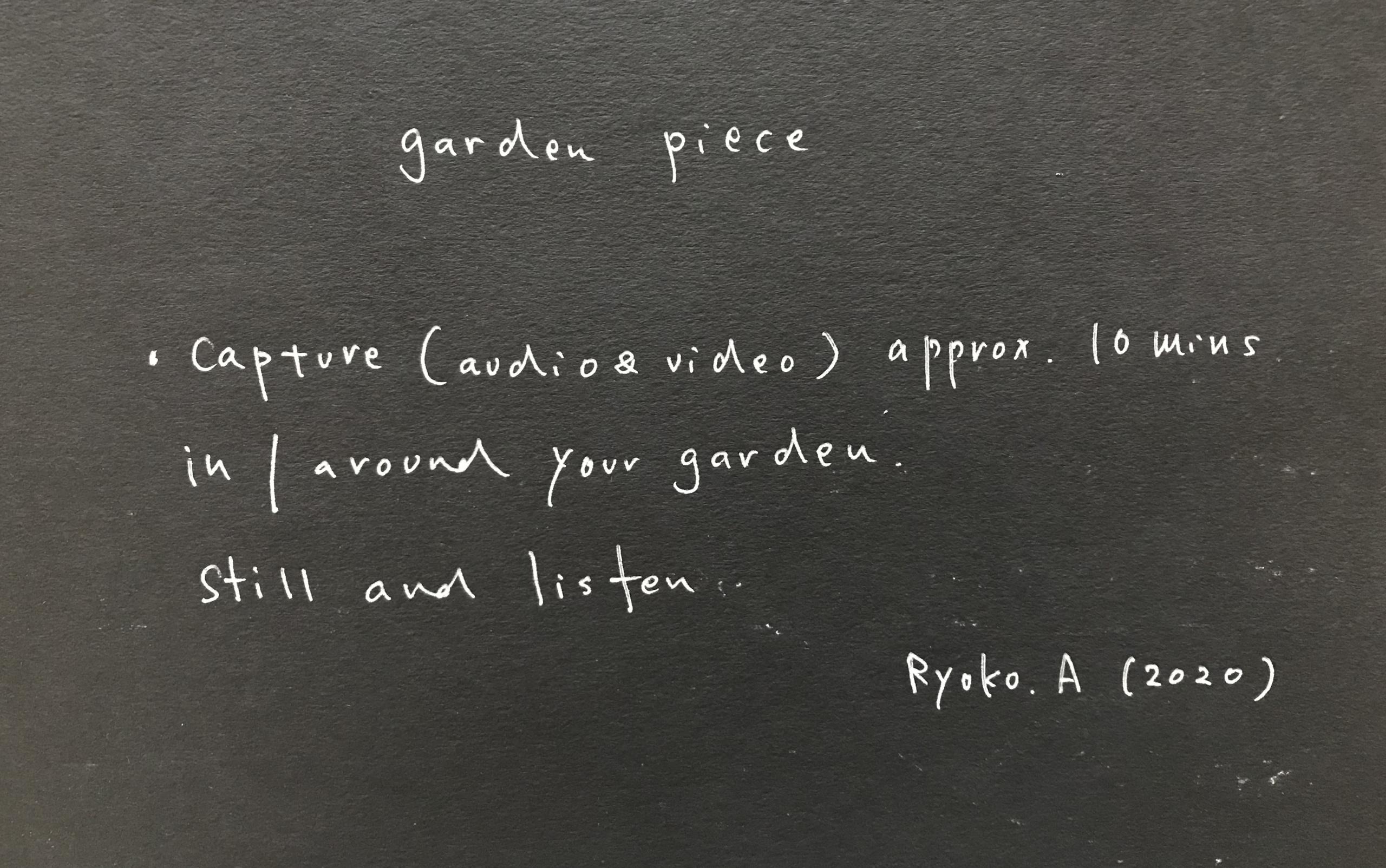 garden piece (2020)